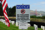 Ironic sign at Veterans Cemetary