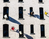 Defenestration art installation